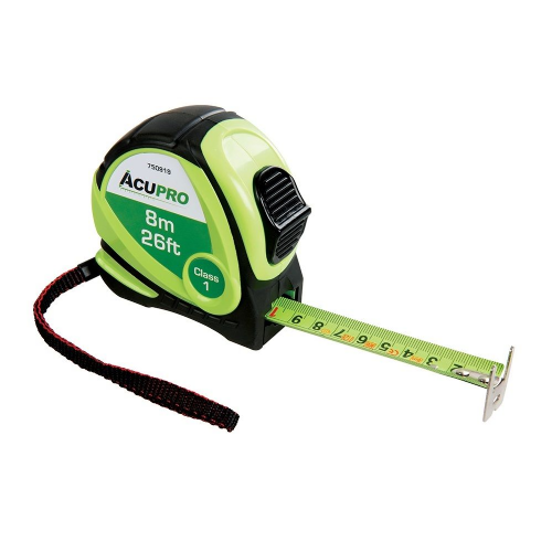 Acupro 750919 Metric & Imperial Tape Measure 8m / 26ft x 25mm